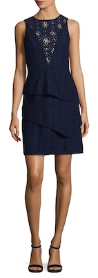 Lace Flared Dress $168 thestylecure.com
