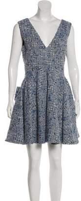 Christian Dior Wool-Blend Bouclé Dress