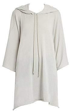 Rick Owens Women's Wool Hooded Poncho