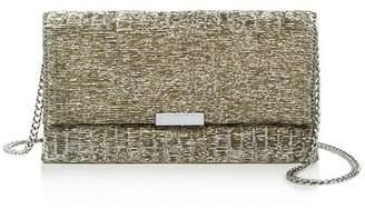 Loeffler Randall Medium Textured Fabric Clutch