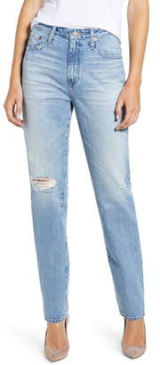 AG Jeans The Phoebe Extended High Rise Slim Straight Leg Jeans