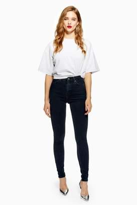 Topshop PETITE Blue Black Jamie Jeans