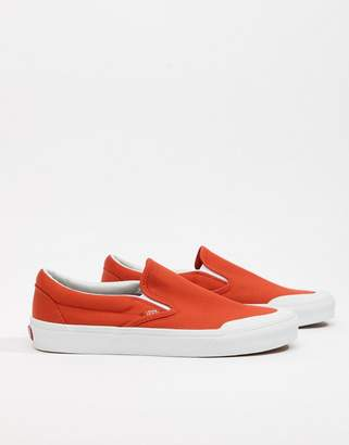 Vans Classic Slip-On 138 Sneakers In Orange VA3TKBU7W