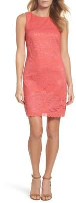 Eliza J Sleeveless Scallop Hem Sheath Dress