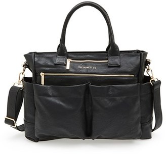 Infant Girl's The Honest Company 'Everything' Faux Leather Diaper Bag - Black $169.99 thestylecure.com