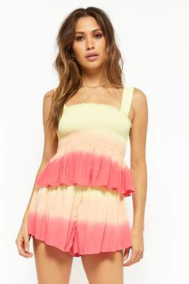 Forever 21 Smocked Ombre Shorts