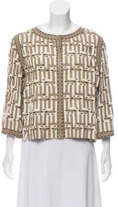 Fendi Leather Woven Jacket w/ Tags