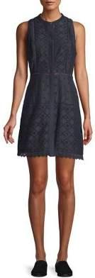 Joie Sleeveless Cotton Silk Blend Button-Front Dress