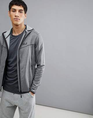 Jack Wolfskin Sutherland Hooded Jacket In Gray