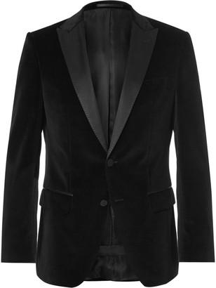 Hugo Boss Black Slim-Fit Silk-Trimmed Tuxedo Jacket $645 thestylecure.com
