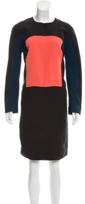 Fendi Colorblock Knee-Length Dress
