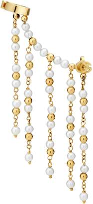 Gucci Single GG Running ear cuff with pearls