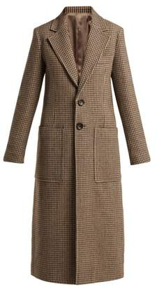 Joseph Marko Single Breasted Wool Blend Coat - Womens - Beige Multi