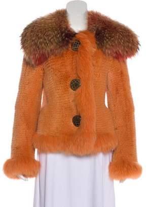 Dolce & Gabbana Fox Fur Shawl Collar Jacket
