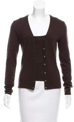 Michael Kors Button-Up Cashmere Cardigan Set