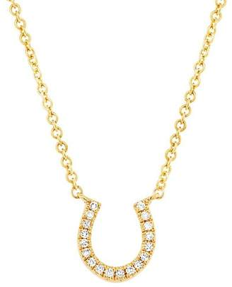Ron Hami 14K Yellow Gold Diamond Horseshoe Pendant Necklace - 0.06 ctw