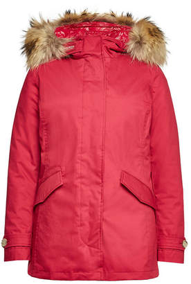 Woolrich 3-in-1 Arctic Cotton Down Parka with Fur-Trimmed Hood