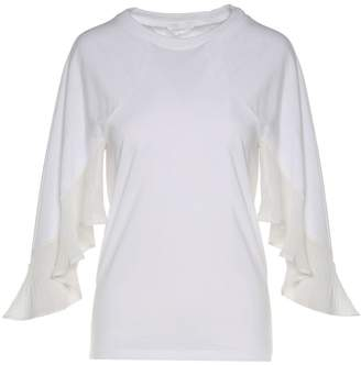 See by Chloe Chiffon-insert Cotton-jersey T-shirt