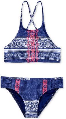 Roxy 2-Pc. Printed Crossback Bikini Swimsuit, Big Girls (7-16) $46 thestylecure.com
