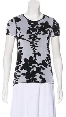 Armani Collezioni Printed Short Sleeve Top