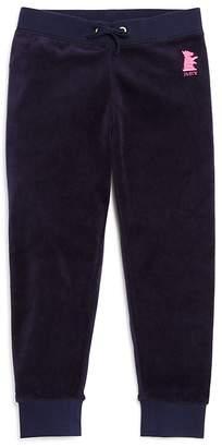 Juicy Couture Black Label Girls' Velour Zuma Pants - Big Kid
