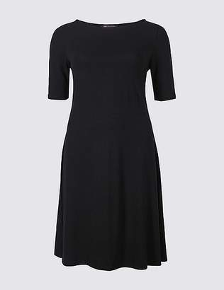 Marks and Spencer PETITE Jersey Half Sleeve Swing Dress