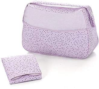 Piccolandy Pompom Stars Baby Bag And Changing Mat Foldable blue