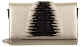 Christian Louboutin Leather Crossbody Gold Leather Crossbody