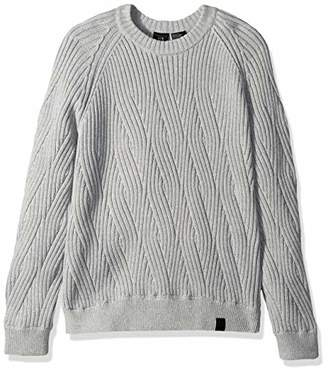 Armani Exchange A|X Men's Crew Cableknit Sweater