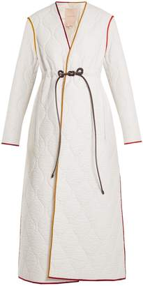 Roksanda Toledo V-neck quilted nylon coat