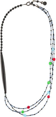 Giorgio Armani layered beaded necklace
