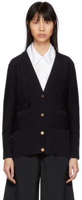 Thom Browne Navy Links Links Intarsia Stripe Cardigan