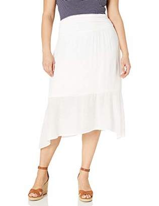 Amy Byer Women's Plus Size Hanky Hem Pull-On Skirt