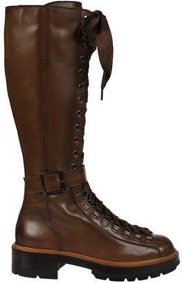 Santoni Mid-calf Length Laced-up Over-the-knee Boots
