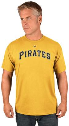 Majestic Men's Pittsburgh Pirates Official Wordmark Tee