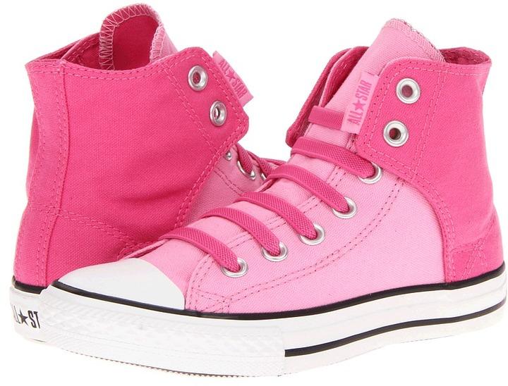 Converse Chuck Taylor All Star Easy Slip Hi (Little Kid/Big Kid) (Carmine Rose/Prism Pink) - Footwear