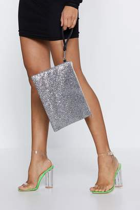 Nasty Gal WANT Glitter Bug Clutch Bag