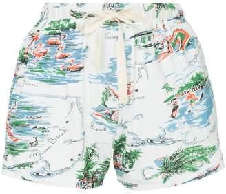 Bassike beach print jersey shorts