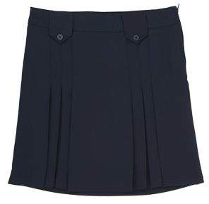 French Toast Girl's Plus Front Pleated Tab Skirt