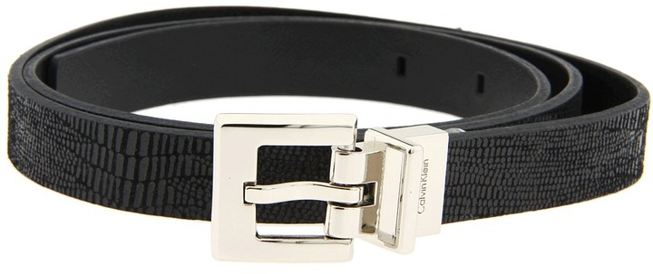 Calvin Klein - CK Reversible Lizard/Leather (Black) - Apparel