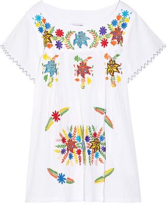 Sensi Studio - Embroidered Cotton Mini Dress - White $340 thestylecure.com