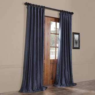 House of Hampton Hedgerley Yarn Dyed Faux Dupioni Silk Single Curtain Panel