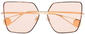 Gucci rose gold tinted lens square sunglasses