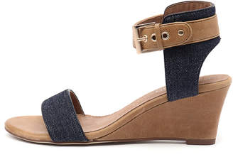 Top end Umbra Dark denim-tan Sandals Womens Shoes Casual Heeled Sandals