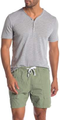 Lucky Brand Y-Neck Raw Edge Henley