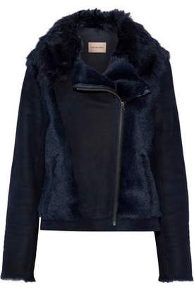 Yves Salomon Paneled Shearling Jacket