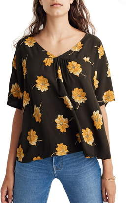 Madewell Rhyme Fall Flowers Top