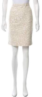 Vivienne Tam Silk-Blend Floral Jacquard Skirt