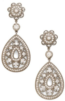 Women's Nina Filigree Teardrop Crystal Earrings $158 thestylecure.com