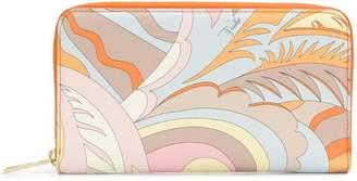 Emilio Pucci Orange Acapulco Zip Wallet